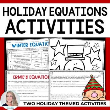 Equations Christmas Activity