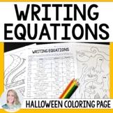 Writing Equations Coloring Worksheet