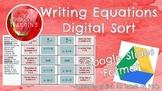 Writing Equations Digital Sort