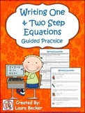 Writing Equations From Word Problems ~ Common Core 7.EE 6.EE