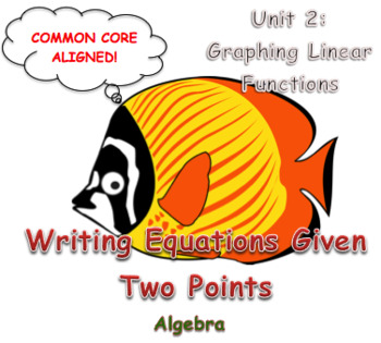 Writing Equations Given Two Points