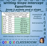 Writing Equations Given a Point and Slope - Google Classro