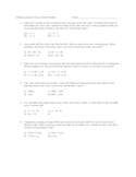 Writing 2 Step Equations Given a Word Problem