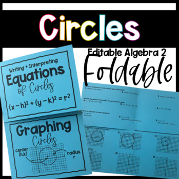 Writing Equations & Graphing Circles (Geometry Foldable)