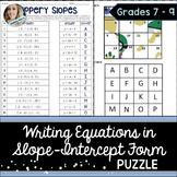 Slope Intercept Form Puzzle