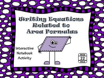 Writing Area Formulas