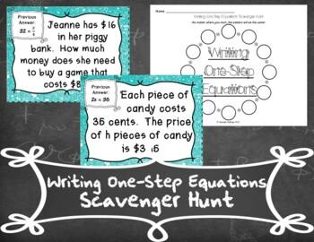 Writing Equations Scavenger Hunt
