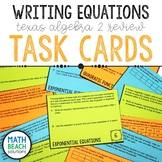 Writing Equations Task Card Activity - Texas Algebra 2 Review