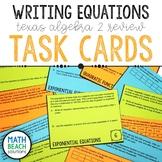 Writing Equations Task Card Activity - Texas Algebra 2 Review