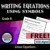 Writing Equations Using Symbols Worksheet