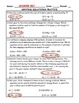 Writing Equations Word Problem Practice PLUS Spiral Review