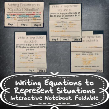 Writing Equations and Inequalities from Situations INB TEKS 8.8A