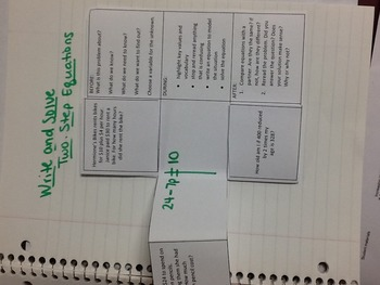 Writing Equations foldable