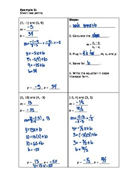 Writing Equations for Lines