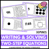 Writing and Solving Two-Step Equations: Dominos