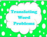 Writing Equations from Word Problems