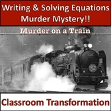 Writing Equations from Word Problems Activity! Solving Equations Mystery!
