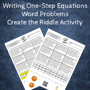 Writing Equations from Word Problems Create a Riddle Activity - Add & Subtract