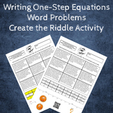 Writing Equations from Word Problems Create the Riddle Activity - Add & Subtract