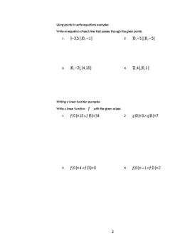 Writing Equations in Slope-Intercept FGorm
