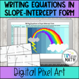 Writing Equations in Slope-Intercept Form - Digital Pixel Art