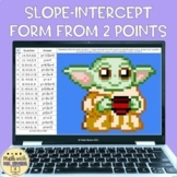 Writing Equations in Slope Intercept Form from Two Points