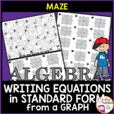 Writing Equations in Standard Form from Graphs Maze