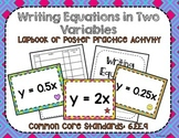 Writing Equations in Two Variables Activity