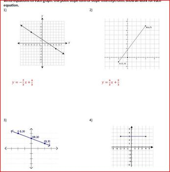 Writing Equations in the coordinate plane