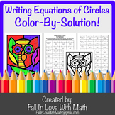 Writing Equations of Circles Color-By-Number!