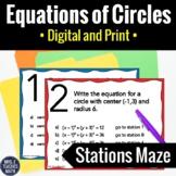 Equations of Circles Activity   Digital and Print