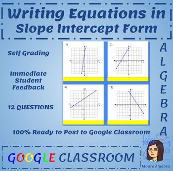 Writing Equations Of Graphs In Slope Intercept Form Google Classroom