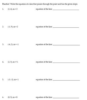 Writing Equations of Lines Bundle