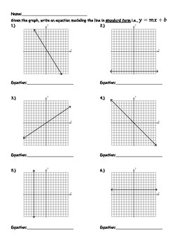 Writing Equations of Lines From Graphs