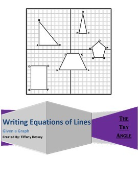 Writing Equations of Lines (Given a Graph)