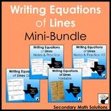 Writing Equations of Lines Mini-Bundle