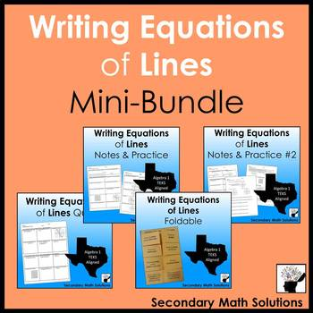 Writing Equations of Lines Mini-Bundle