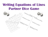 Writing Equations of Lines Partner Dice Game/Activity
