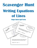 Writing Equations of Lines Scavenger Hunt Activity (Slope