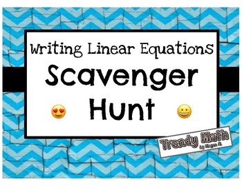 Writing Equations of Lines Scavenger Hunt with Emojis!