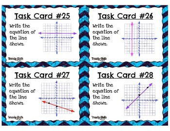 Writing Equations of Lines Task Cards