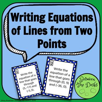 Writing Equations of Lines from Two Points