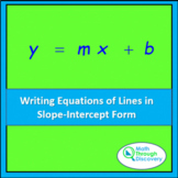 Writing Equations of Lines in Slope-Intercept Form