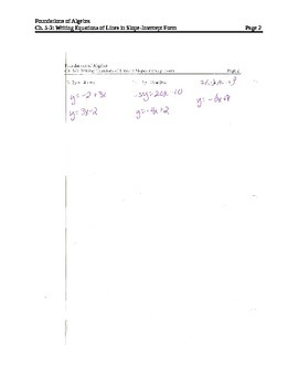 Writing Equations of Lines in Slope-Intercept Form (3)
