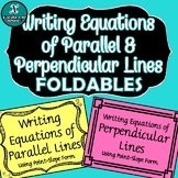 FOLDABLE - ALGEBRA - Equations of Parallel & Perpendicular Lines