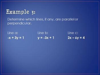 Writing Equations of Parallel & Perpendicular Lines (PPT)