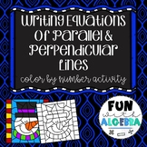 Writing Equations of Parallel & Perpendicular Lines {Winter Themed}