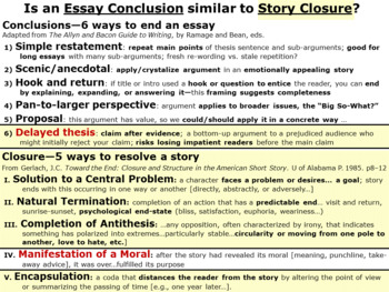 Writing Essay Conclusions: Six Strategies Similar to Closure in a Story