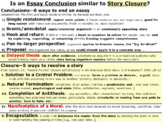 Writing Essay Conclusions: Six Strategies Similar to Closu