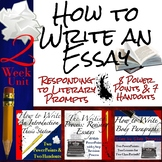 How to Write an Essay Curriculum Unit Bundle: Body Paragraphs, In-text Citations